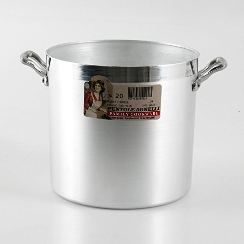 Pentole Agnelli FAMA332 Family Cooking Pentola Cilindrica, in Alluminio BLTF, Maniglie, 24 Litri, Argento