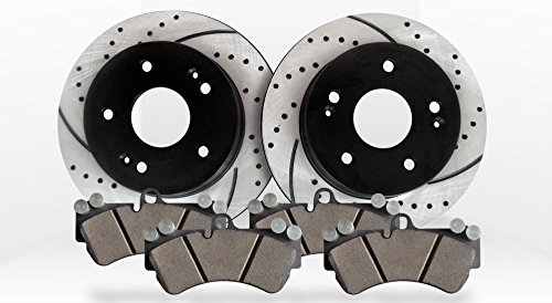 Approved Performance J29652 - [Front Kit] Performance Drilled/Slotted Brake Rotors and Ceramic Pads (2005 Mazda 3i compare prices)