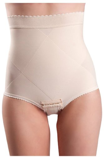 Peanut Shell Flats Post-Pregnancy Belly Compression Postpartum Girdle With Panel, X-Small, Beige front-206365
