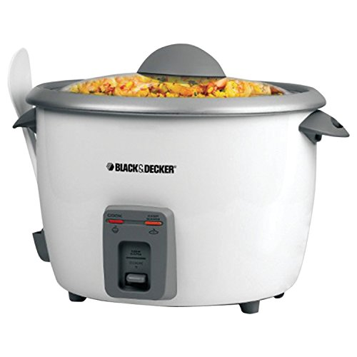 BLACK+DECKER RC5428 15-Cup Dry/28-Cup Cooked Rice Cooker, White (Electric Rice Cooker 28 Cup compare prices)