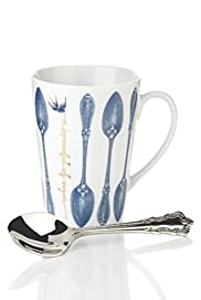 Bird Song Vintage Inspired Mug & Spoon [T40-8426G-S]