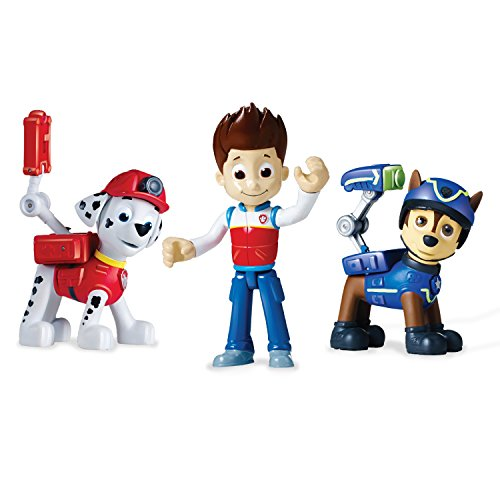 Paw Patrol Action Pack Pups 3pk Figure Set Marshall, Ryder, Chase - 1