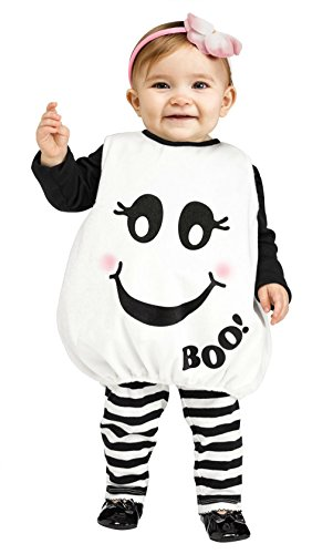 [Baby-girls Costumes Baby Boo Infant Ghost Costume 117221] (Boo Baby Costume)