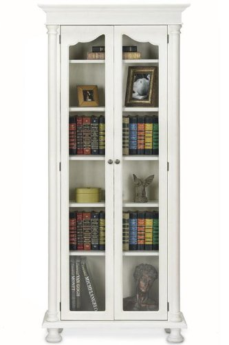 Cheap salem 31w 6 shelf bookcase with glass doors for Cheap glass doors