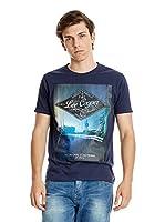 Lee Cooper Camiseta Manga Corta Dockport (Azul Oscuro)