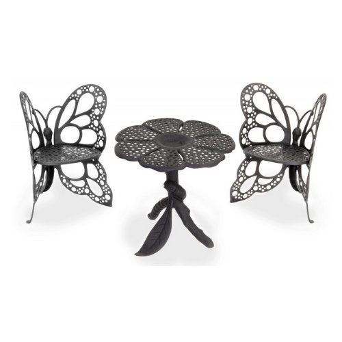 Twin Butterfly Bistro 3 Piece Set Color: Black picture