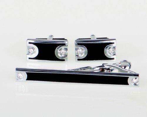 Lodestar Galaxy Gems Cufflinks & Tieclips set with gift box: Hourglass Gems DE (ACV-01)