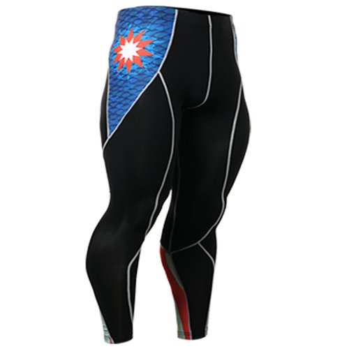 Fixgear Mens Womens Skin Running Pants Compression Skin Tights Black S ~ 2XL