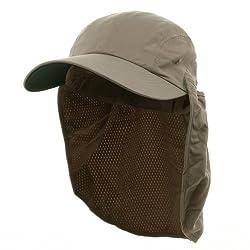 Microfiber Flap Hats-Khaki