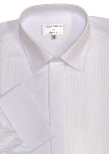 White Standard Collar Formal Dress Shirt