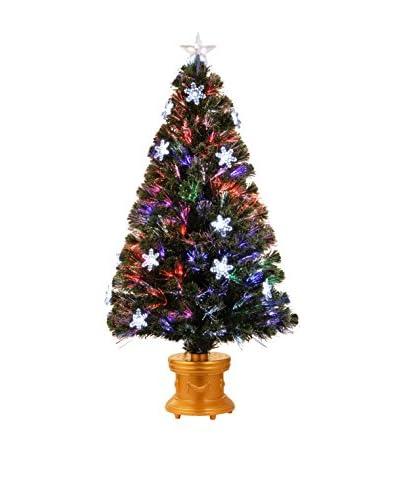 National Tree Company 48 Fiber Optic Fireworks Snowflake Tree