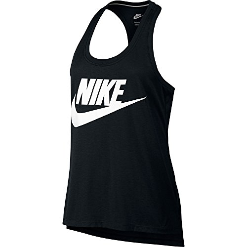 Nike NSW Signal Swoosh Logo Printed Women's Tank Top Black/White 830391-010 (Size XS)