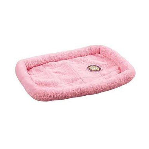Slumber Pet Sherpa Dog Crate Bed, Small, Baby Pink front-1019831