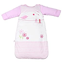 Labebe Cartoon Animalas Sleep Nest Baby Sleeping Bag Cotton Wearable Blankets (31.5\'\', Pink)