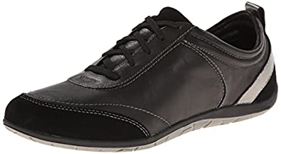 Vionic with Orthaheel Technology Womens Willa Black Sneaker - 5