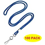 "HOSL Economy Blue Lanyards Round 36"" with Swivel Hook (Qty 100) (Blue)"