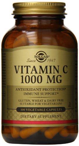 Solgar Vitamin C Vegetable Capsules, 1000 Mg, 100 Count