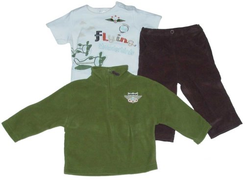 Infant Boys' Outfit with Corduroy Pants, T-shirt and