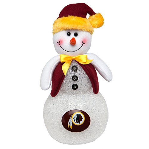 Washington Redskins Light-Up Tabletop Snowman