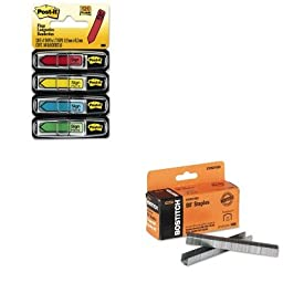 KITBOSSTCR211538MMM684SH - Value Kit - Stanley Bostitch B8 Powercrown Staples (BOSSTCR211538) and Post-it Arrow Message 1/2amp;quot; Flags (MMM684SH)