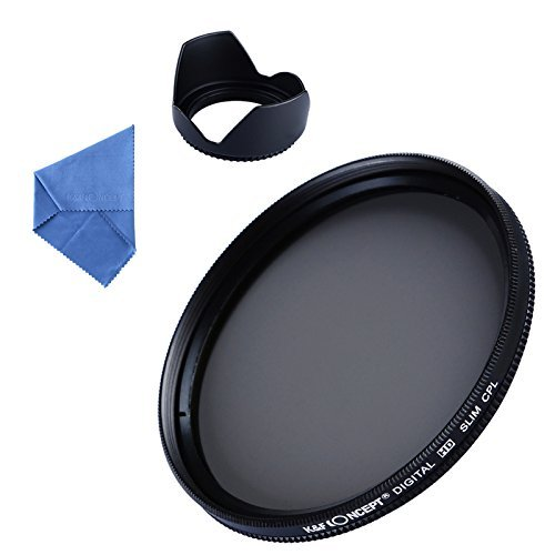 52mm polarizing filter, K&F Concept 52mm lens hood Tulip Flower + Circular Polarizer Professional Lens Filter Kit + Cleaning Cloth for Nikon Canon Digital Camera (Polarized Filter 52mm compare prices)