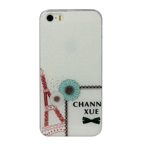 Bluesky Flower Girl Hard Back Skin Case Cover For Iphone 5 5G 5S (C)