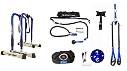 CoreX Ultimate Functional Fitness Bundle - Dip Bars, Club Bodyweight Suspension Straps, RipFit Trainer, Functional Fitness Training Bag, CoreMount, Door Anchor.