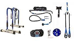 CoreX Ultimate Functional Fitness Bundle - Dip Bars, Club Bodyweight Suspension Straps, RipFit Trainer, Functional Fitness Training Bag, CoreMount, Door Anchor.