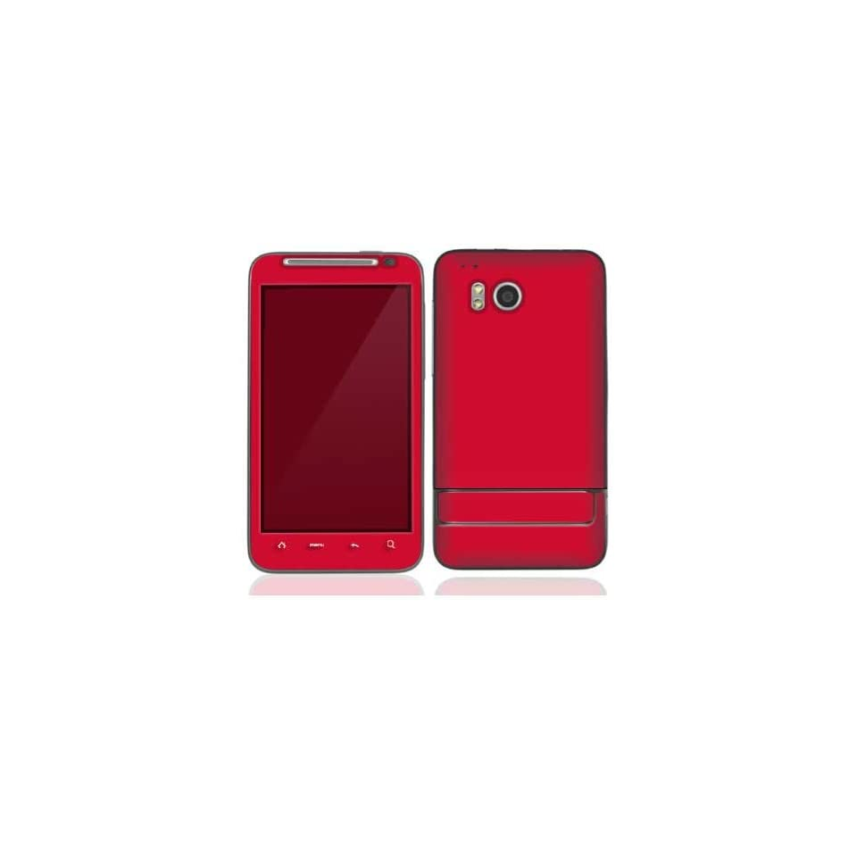 Simply Red Protective Skin Cover Decal Sticker for HTC Thunderbolt Cell Phone