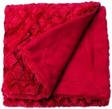 Soleil d'Ocre 512315 Plaid Diamant Rouge 110 x 140 cm