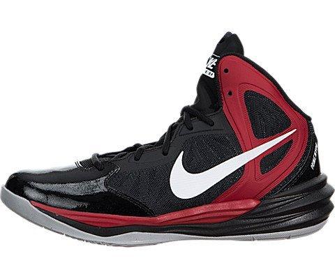 Nike Men's Prime Hype Df-Scarpe da pallacanestro, Multicolore (Black/White/Unvrsty Rd/Anthrct), 45