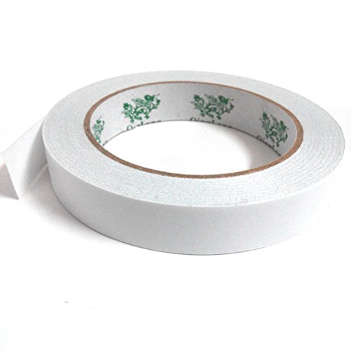 Double-Sided Adhesive Sticky Tape, QingLong(Green Dragon) Premiun Permanent Double Sided Tape For Photos/ Documents/ Wallpaper And Many Other Craft Projects (3/4 inch x 27 yards) (18mm x 25m) (1 Roll) by QingLong