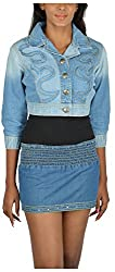 Its Hot Women's Slim Fit Jacket (Sc159_XL, Blue, XL)