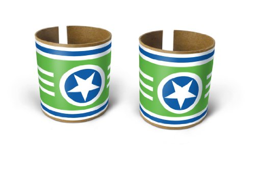Box Play For Kids Green Superstar Bracelets Toilet Paper Roll Stickers