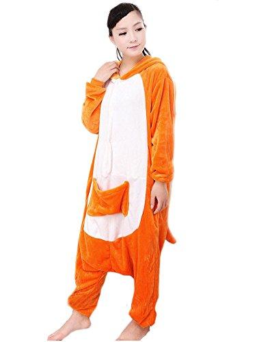 LATH.Pin canguri Jumpsuit animale Cartoon Halloween costume cosplay in pile pigiama unisex pigiama taglia M