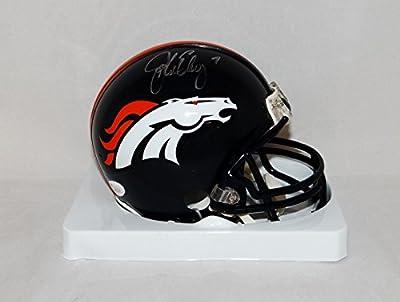 John Elway Autographed Denver Broncos Mini Helmet with JSA W Auth
