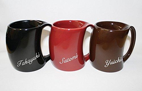 【名入れ】【ギフト】【アルクマグカップ [シャイニーレッド]】 ご希望のお名前・メッセージ・日付をエッチング(彫刻)いたします。[30文字まで]お名前のみ彫刻希望の方は、アルクマグカップ [シャイニーレッド]3,780円をお選びください(マグカップ1ケのお値段です)