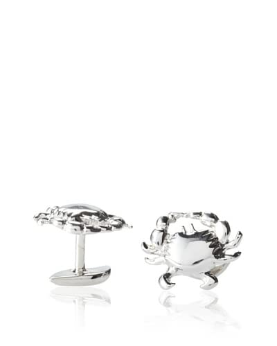 Rotenier Sterling Silver Crab and Wave Cufflinks As You See