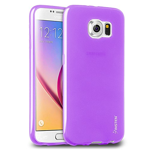 Galaxy S6 Case, Insten [Ultra Slim] [Semi-Transparent] [Full Protection] Perfect Fit TPU Soft Gel Protective Case Cover (Frost Clear Series) Compatible With Samsung Galaxy S6 VI 2015, Purple