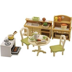 Sylvanian families country kitchen set toys for Kitchen set toys amazon