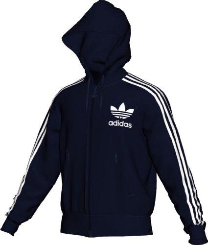 836040dbaa Best buy adidas track jacket  adidas Men s Adi Hooded Flock Track ...