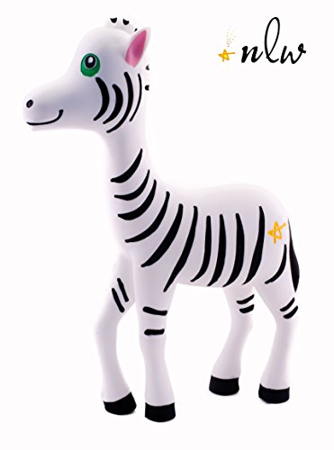 Baby Teether - Zen Zebra Teething Toy - ONE DAY SPECIAL! - 100% Pure Food Grade Silicone - BPA-Free - Latex Free - Fully texturized design uniquely supports TACTILE & SENSORY development ♥