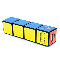 1x1x4 Rubiks Cuboid Portable Battery Charger Power Bank Black Body Fully Fuctional Puzzle Cube