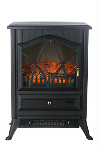 VonHaus VonHaus 1500W Portable Electric Stove Heater Fireplace / Space Heater with Log Burning Flame Effect B015CWXH6E