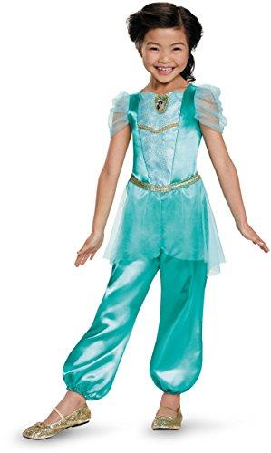 Disguise Jasmine Classic Disney Princess Aladdin Costume, One Color, Small/4-6X