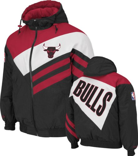 Chicago Bulls Black Mitchell & Ness Weakside Full Zip Hooded Jacket at Amazon.com