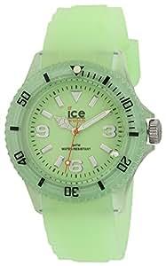 Ice-Watch Unisex Glow Green Analogue Watch GL.GG.U.S.11 with Silicone Strap