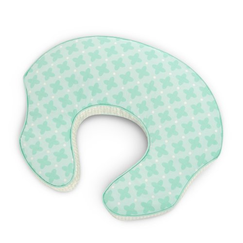 Comfort & Harmony Mombo Deluxe Covered Nursing Pillow Slipcover, Mint to be Sweet