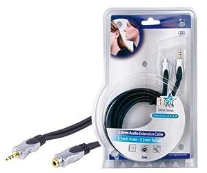HQ Audio Verlängerungskabel (Klinken Stecker auf Klinken Kupplung) 5 m