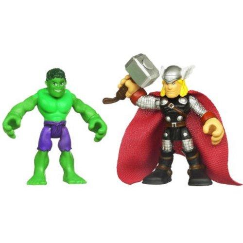 Marvel Super Hero Adventures 2 Pack Hulk & Thor front-893369